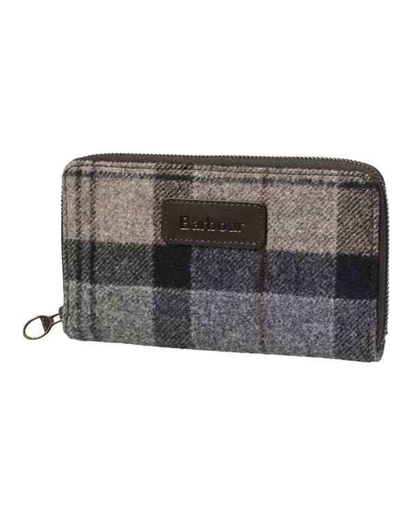 Barbour Geldbeutel Wool Tartan Grau