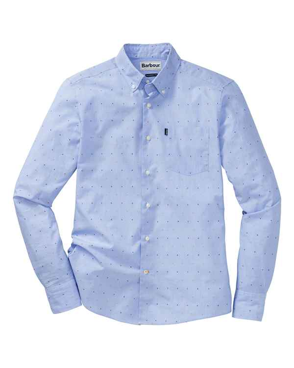 Barbour Hemd Cuthbert Blau