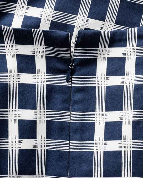 Barbour Kleid Earlsburn Marine/Weiß