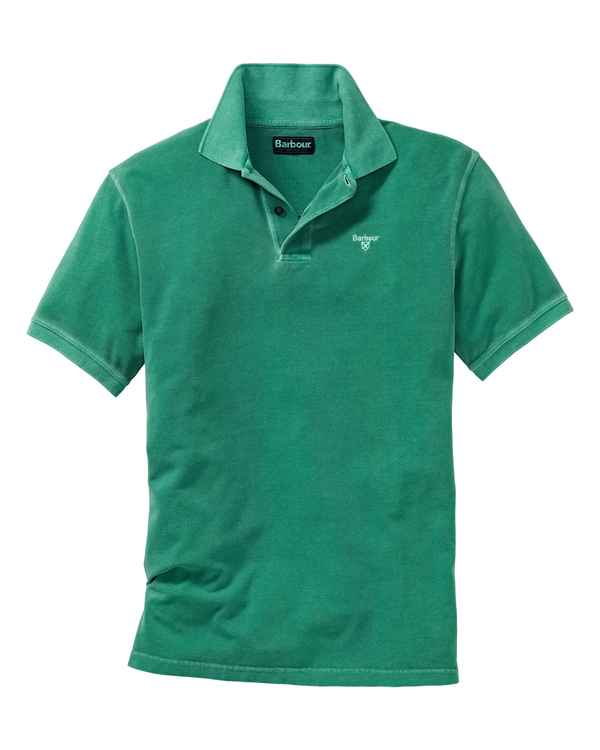 Barbour Poloshirt Washed Sports Grün