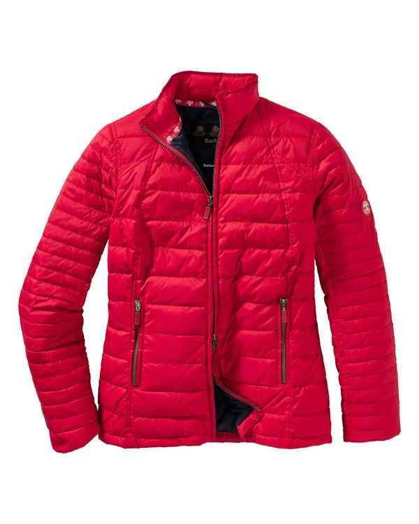 Barbour Steppjacke Chock Rot