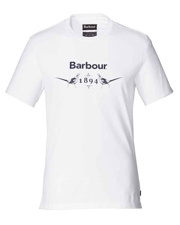 Barbour T-Shirt Morpeth Weiß