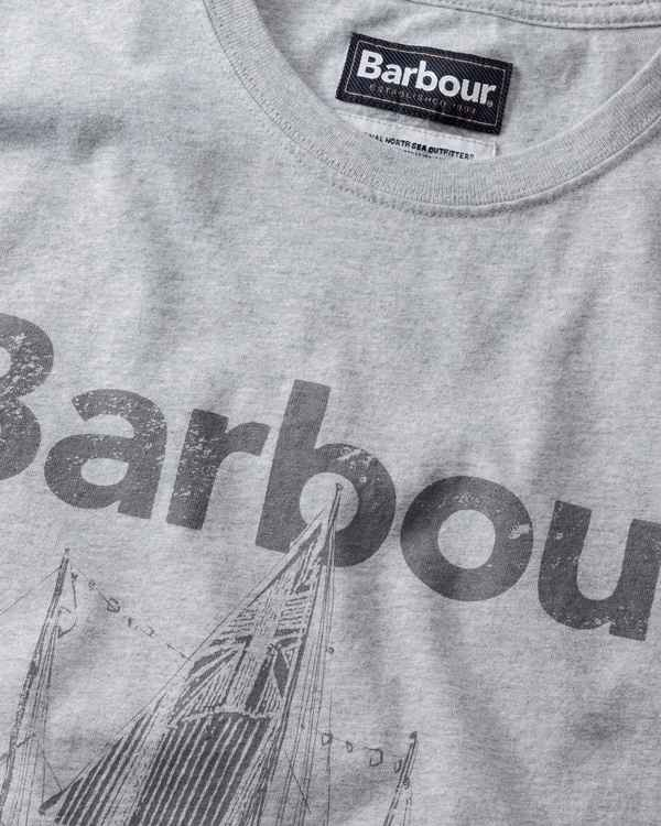 Barbour T-Shirt Sailboat Grau